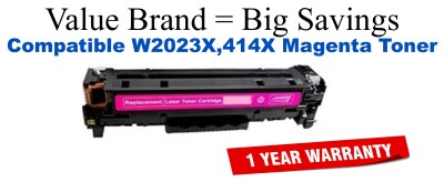 W2023X,414X High Yield Magenta Compatible Value Brand toner