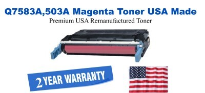 q7583a,503A Magenta Premium USA Made Remanufactured HP toner