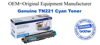 TN221C Cyan Genuine Brother toner